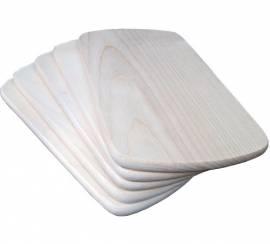 Frühstücksbrett Ahorn 24 x 14 x 1 cm eckig gerundete Ecken - Bild vergrößern