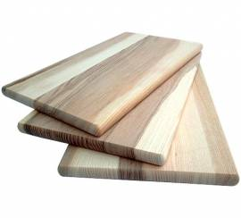 Holz Schneidebrett Kern-Esche 30 x 18 x 1,5 cm natur - Bild vergrößern
