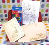 Geschenke-Box Ahorn Frühstücksbrett Delphin klein