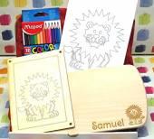 Geschenke-Box Ahorn Frühstücksbrett Löwe