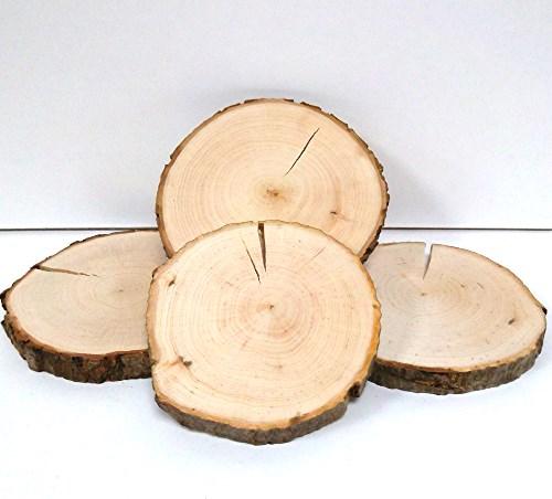 Baumscheibe Erle rund 12-14 cm - 2. Wahl Rindenscheibe natur geschliffen