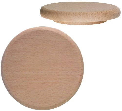 Holzdeckel Buche 10 cm, Holz Bierglasdeckel blanko oder als Werbemittel