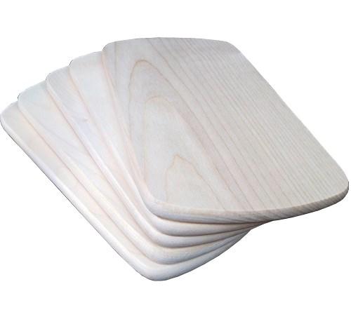 Frühstücksbrett Ahorn 24 x 15 x 1 cm rechteckig gerundete Seiten