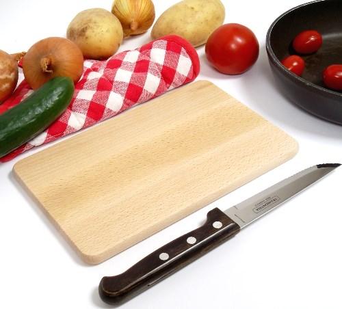 Frühstücksbrett Buche 22 x 12 x 1 cm rechteckig