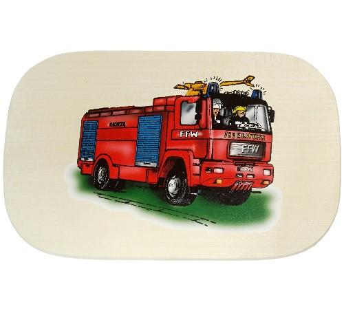 Bunte Kinder Frühstücksbrettchen Motiv Feuerwehr