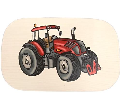 Bunte Kinder Frühstücksbrettchen Motiv roter Traktor