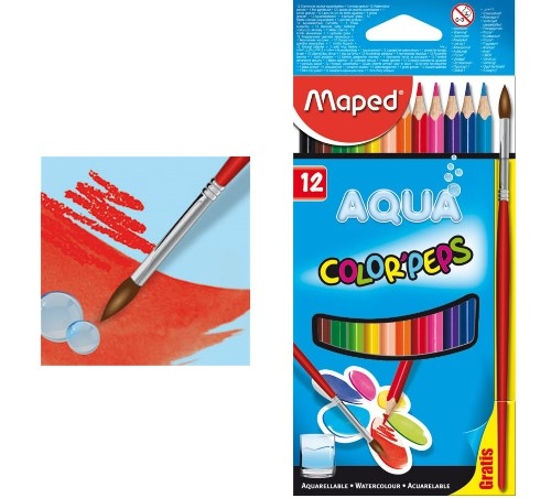 Buntstifte Color'Peps Aqua 12er von Maped