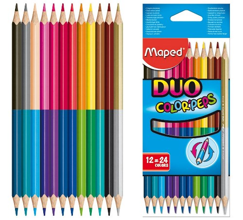 Buntstifte Color'Peps Duo 12er von Maped