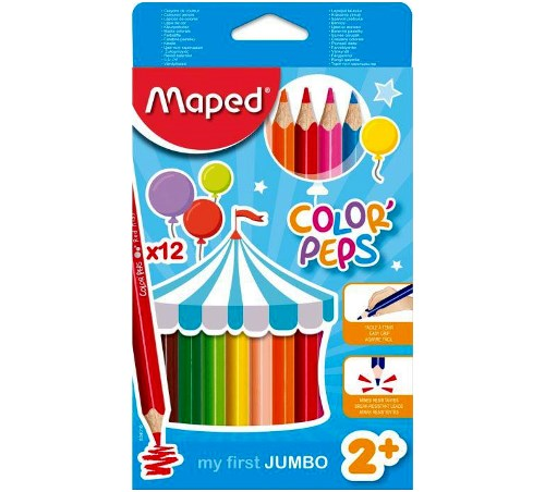 Buntstifte Color'Peps Jumbo 12er von Maped