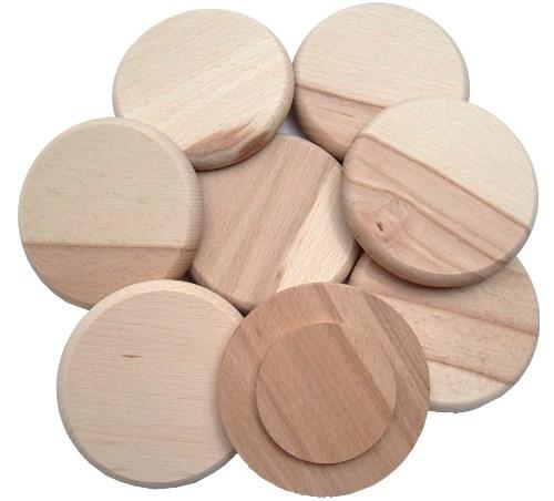 Holzdeckel Buche 10 cm - 2. Wahl Bierglasdeckel