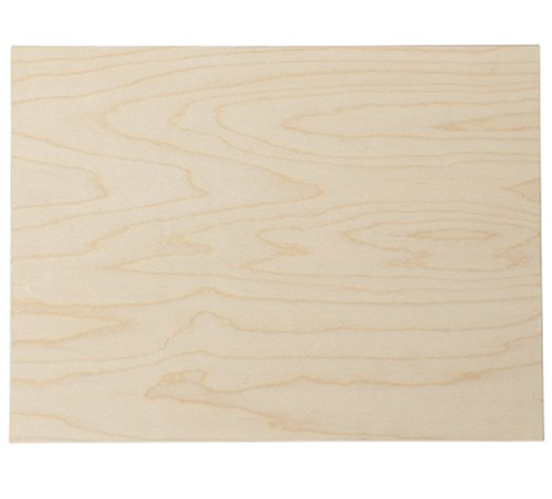 DIN A5 Birke Multiplex-Platte 9 mm - Holzbrett zum Basteln