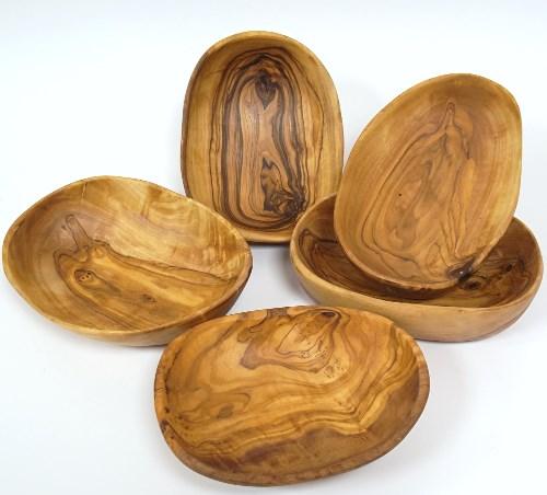 Olivenholz Schale oval ca. 12 cm / Holz Knabberschale rustikal