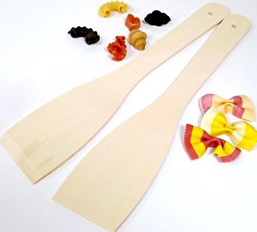 Pfannenwender glatt - Holzwender 30 cm aus Buche