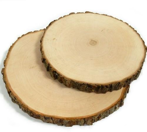 Baumscheibe Erle rund 31-35 cm - Holzscheiben mit Rinde