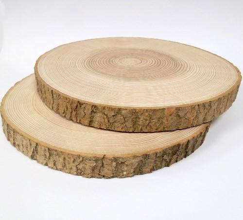 Baumscheibe Esche rund 23-26 cm - Holzscheiben mit Rinde